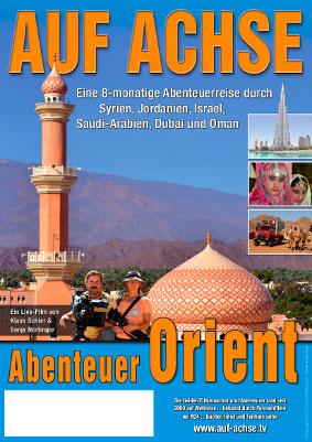 """Plakat Vortrag/Film """"Abenteuer Orient"""" - auf-achse.tv"""