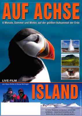 """Plakat Vortrag/Film """"Island"""" - auf-achse.tv"""