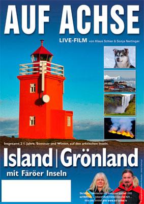 """Plakat Vortrag/Film """"Island - Grönland"""" - auf-achse.tv"""