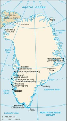 Grönland-Karte
