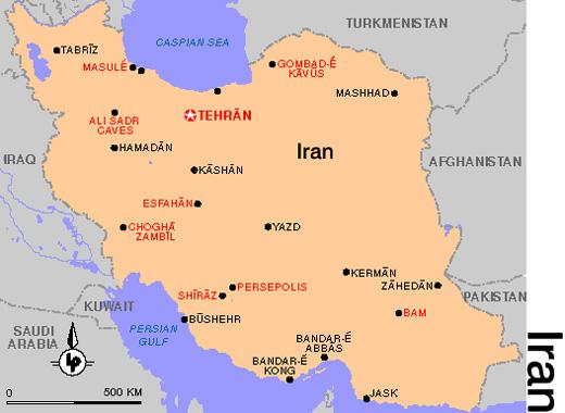 Landkarte Iran