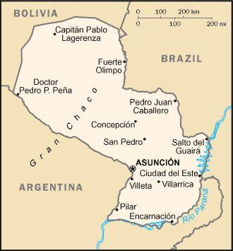 Landkarte Paraguay