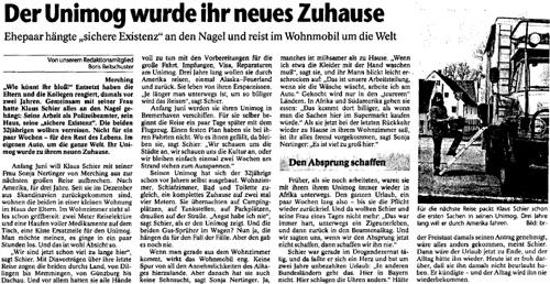 Publikation - Zeitungsartikel 1