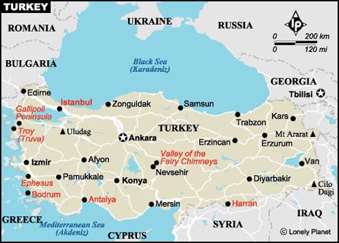 Landkarte Türkei