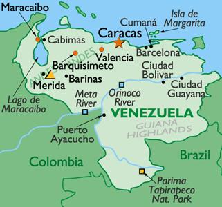 Landkarte Venezuela