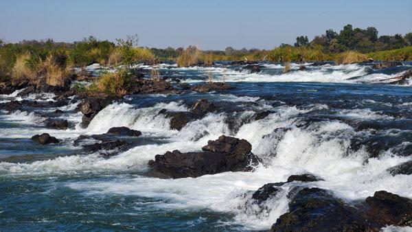 Weltreise Etappe Afrika - Popa-Wasserfälle