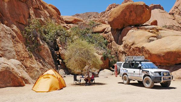Weltreise Etappe Afrika -Spitzkoppe Camping