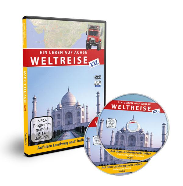 Doppel-DVD - Weltreise XXL - Auf dem Landweg nach Indien